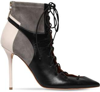 Malone Souliers 100mm Leather & Suede Ankle Boots