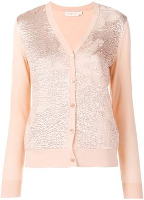 Tory Burch floral cloqué-front cardigan
