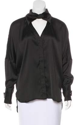 Hotel Particulier Collared Long Sleeve Blouse