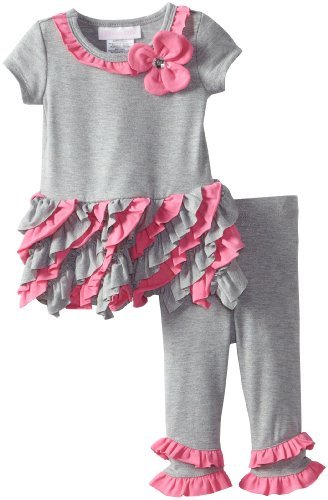 Bonnie Baby girls Newborn Ruffled Legging Set