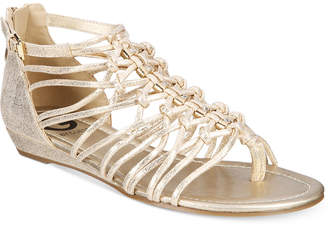 G by GUESS Jonsie Strappy Flat Sandals $49 thestylecure.com