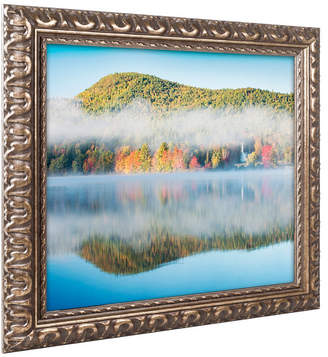 Michael Blanchette Photography 'Fog On Crystal Lake' Ornate Framed Art
