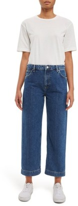 Topshop Women's Crop Wide Leg Jeans