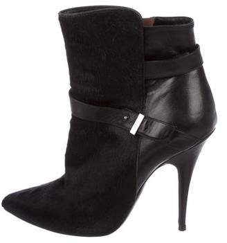 Tabitha Simmons Ponyhair Pointed-Toe Booties
