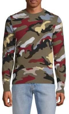 Valentino Maglia Camouflage Cashmere Sweater