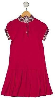 Carrera Pili Girls' Collar Pleated Dress