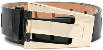 Gucci asymmetric buckle belt