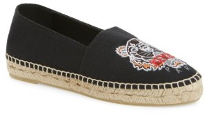 Women's Kenzo Tiger Logo Embroidered Espadrille $175 thestylecure.com