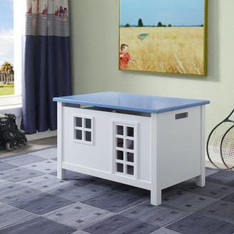 ACME Furniture Acme Doll Cottage Wooden Frame Youth Chest in White and Blue