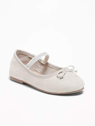 Old Navy Faux-Suede Sparkle Ballet Flats for Toddler Girls