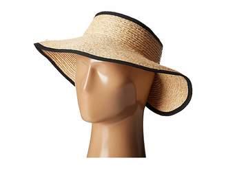 San Diego Hat Company RHV1505 Raffia Roll Up Visor with Velcro Closure 8f9e8da82d12