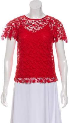 Ralph Lauren Lace Short Sleeve Top