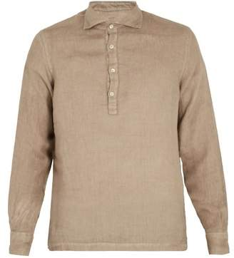 Altea Overhead Linen Shirt - Mens - Brown