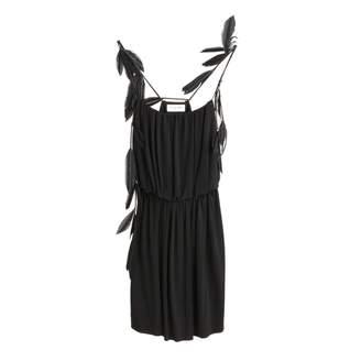 Saint Laurent Feather Trip Strappy Dress