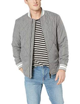 Armani Exchange A|X Men's Quilted Bomber-Style Jacket