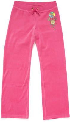Juicy Couture (ジューシー クチュール) - Juicy Couture Girls ベロア イージーパンツ パッションピンク 12