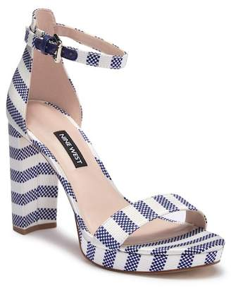 Nine West Blue Heel Strap Women s Sandals - ShopStyle f77373df05