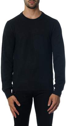 Maison Margiela Black Knitwear With Suede Patches Detail