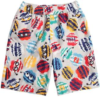 Fendi Pompom Printed Nylon Swim Shorts