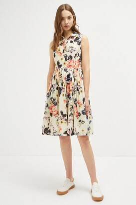 French Connection Acena Voile Sleeveless Shirt Dress