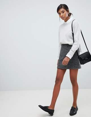 Jack Wills wool blend mini skirt