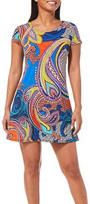 MSK Women's Petite Casual Daytime T-Shirt Dress Paisley Motif