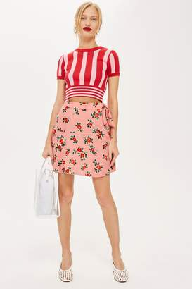 Topshop Floral Blossom Mini Skirt