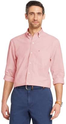 Izod Men's Slim-Fit Essential Gingham Plaid Button-Down Shirt