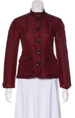 Burberry Quilted Stand Collar Jacket Red Quilted Stand Collar Jacket