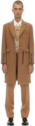 Burberry Wool Coat W/ Zip Details