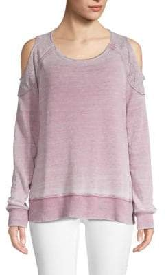 Allen Allen Long-Sleeve Cold-Shoulder Sweatshirt