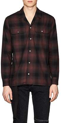 Stampd Men's Los Plaid Cotton Twill Shirt