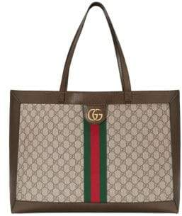 Gucci Women's Large Ophidia Tote - Beige Chocolate