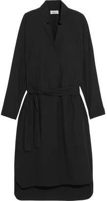 DKNY - Belted Cotton-poplin Dress - Black $295 thestylecure.com
