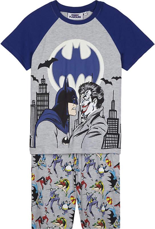Fabric flavours Batman and The Joker print pyjama set 3-10 years