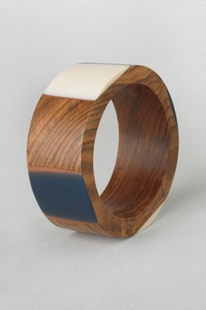 French Connection Resin Wood Bangle