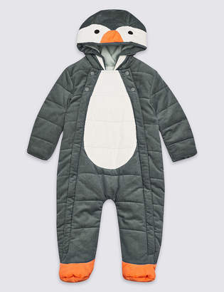 Marks and Spencer Pure Cotton Penguin Pramsuit