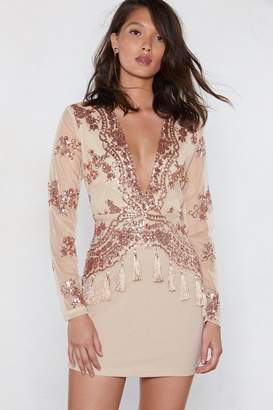 Nasty Gal How Low Can You Go Sequin Dress