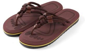 AERUSI Men's Mesa Knot Indoor or Outdoor Flip Flop Sandals (Brown) (Single Pair)