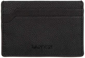 Lanvin Black Pebbled Card Holder