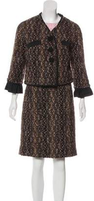 Louis Vuitton Wool Tweed Dress Set