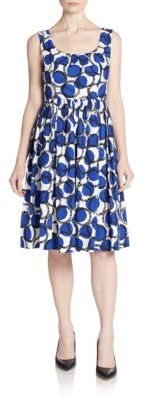 Kate Spade Mixed Circle-Print A-Line Dress