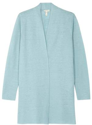 ce73ff91fcbeb Eileen Fisher Blue Knitted Linen Cardigan