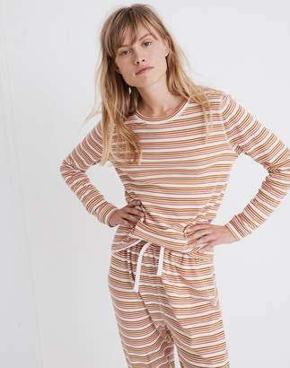 Madewell Honeycomb Pajama Tee in Kasson Stripe