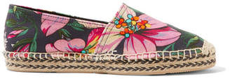 Isabel Marant Canaee Printed Canvas Espadrilles - Pink
