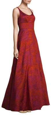 Aidan Mattox Textured Floor-Length Gown