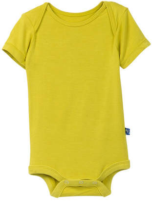 Kickee Pants Solid Short Sleeve Bodysuit (Baby Boys)