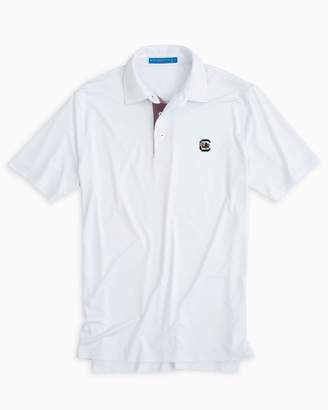 Southern Tide USC Gamecocks Plaid Placket Polo Shirt