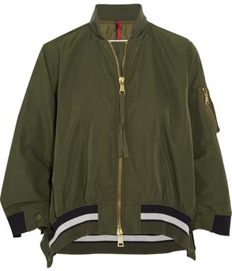 Moncler - Reblochon Gabardine Bomber Jacket - Green $930 thestylecure.com