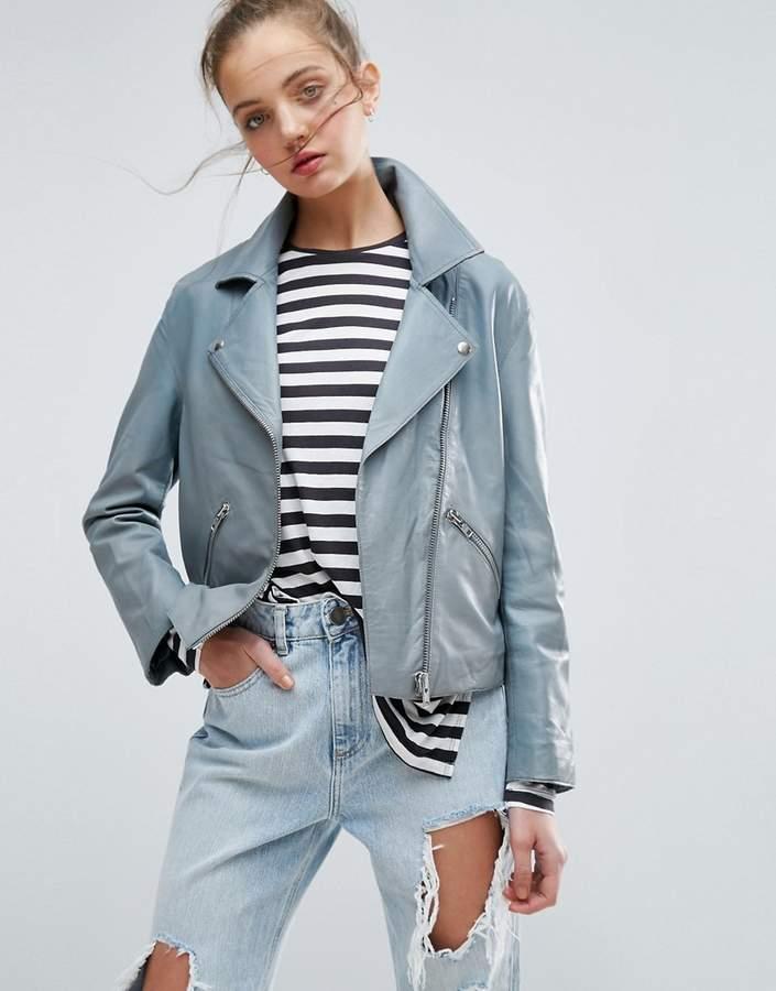 AsosASOS Washed Soft Leather Jacket